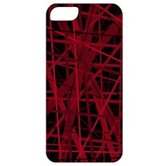 Black and red pattern Apple iPhone 5 Classic Hardshell Case