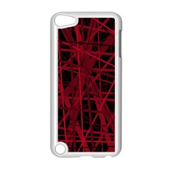 Black and red pattern Apple iPod Touch 5 Case (White)