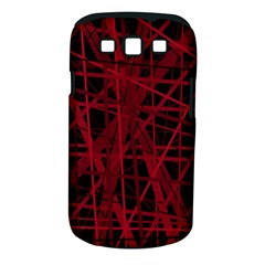 Black and red pattern Samsung Galaxy S III Classic Hardshell Case (PC+Silicone)