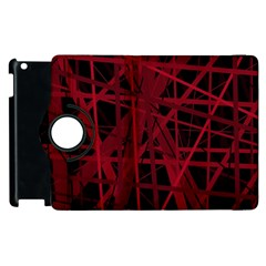 Black and red pattern Apple iPad 2 Flip 360 Case