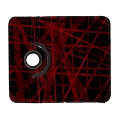 Black and red pattern Samsung Galaxy S  III Flip 360 Case