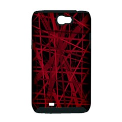 Black and red pattern Samsung Galaxy Note 2 Hardshell Case (PC+Silicone)
