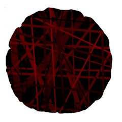 Black and red pattern Large 18  Premium Round Cushions