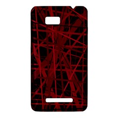 Black and red pattern HTC One SU T528W Hardshell Case
