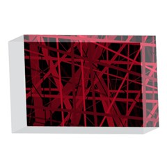 Black and red pattern 4 x 6  Acrylic Photo Blocks