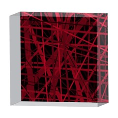 Black and red pattern 5  x 5  Acrylic Photo Blocks