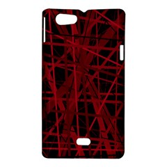 Black and red pattern Sony Xperia Miro