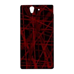 Black and red pattern Sony Xperia Z