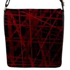 Black and red pattern Flap Messenger Bag (S)