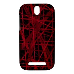 Black and red pattern HTC One SV Hardshell Case
