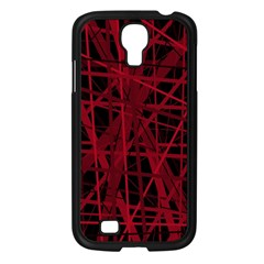 Black and red pattern Samsung Galaxy S4 I9500/ I9505 Case (Black)