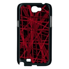 Black and red pattern Samsung Galaxy Note 2 Case (Black)