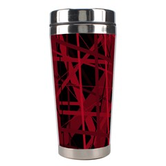 Black and red pattern Stainless Steel Travel Tumblers