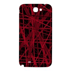 Black and red pattern Samsung Note 2 N7100 Hardshell Back Case