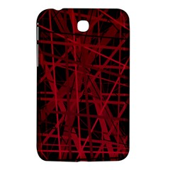 Black and red pattern Samsung Galaxy Tab 3 (7 ) P3200 Hardshell Case