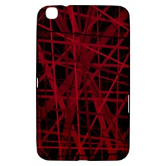 Black and red pattern Samsung Galaxy Tab 3 (8 ) T3100 Hardshell Case
