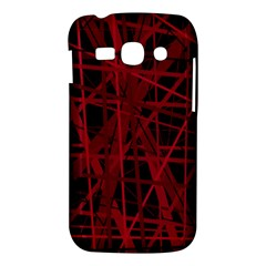 Black and red pattern Samsung Galaxy Ace 3 S7272 Hardshell Case