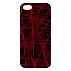 Black and red pattern iPhone 5S/ SE Premium Hardshell Case