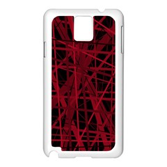 Black and red pattern Samsung Galaxy Note 3 N9005 Case (White)
