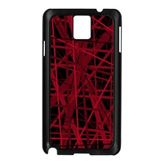 Black and red pattern Samsung Galaxy Note 3 N9005 Case (Black)