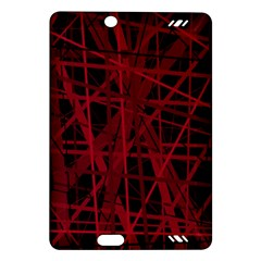 Black and red pattern Amazon Kindle Fire HD (2013) Hardshell Case