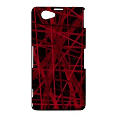 Black and red pattern Sony Xperia Z1 Compact