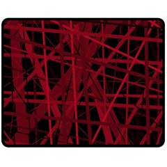 Black and red pattern Double Sided Fleece Blanket (Medium)
