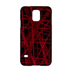 Black and red pattern Samsung Galaxy S5 Hardshell Case