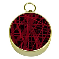 Black and red pattern Gold Compasses