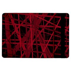 Black and red pattern iPad Air Flip