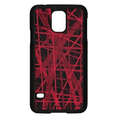 Black and red pattern Samsung Galaxy S5 Case (Black)
