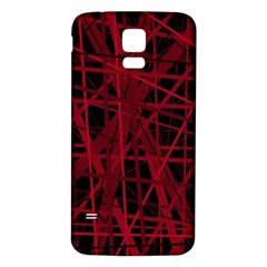 Black and red pattern Samsung Galaxy S5 Back Case (White)