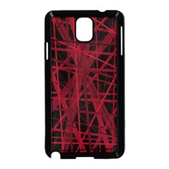 Black and red pattern Samsung Galaxy Note 3 Neo Hardshell Case (Black)