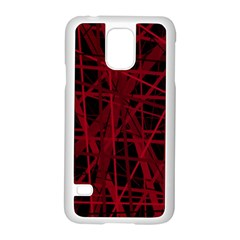 Black and red pattern Samsung Galaxy S5 Case (White)