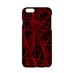 Black and red pattern Apple iPhone 6/6S Hardshell Case