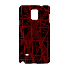 Black and red pattern Samsung Galaxy Note 4 Hardshell Case