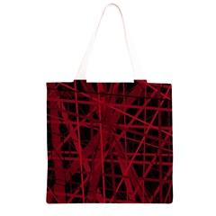 Black and red pattern Grocery Light Tote Bag