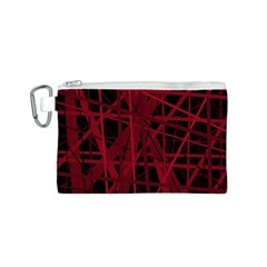 Black and red pattern Canvas Cosmetic Bag (S)