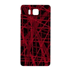 Black and red pattern Samsung Galaxy Alpha Hardshell Back Case