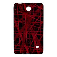 Black and red pattern Samsung Galaxy Tab 4 (8 ) Hardshell Case