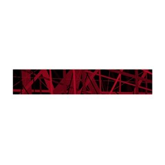 Black And Red Pattern Flano Scarf (mini)