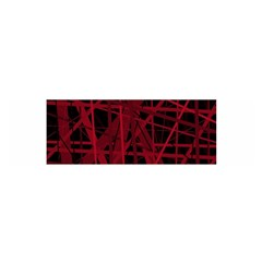 Black and red pattern Satin Scarf (Oblong)