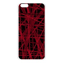 Black and red pattern Apple Seamless iPhone 6 Plus/6S Plus Case (Transparent)