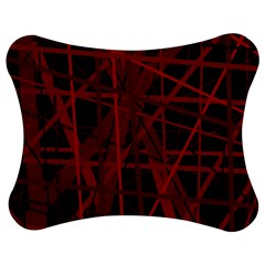 Black and red pattern Jigsaw Puzzle Photo Stand (Bow)