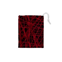 Black and red pattern Drawstring Pouches (XS)