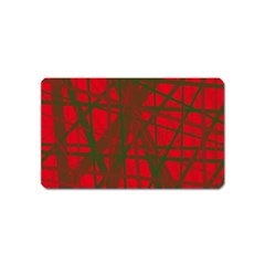 Red pattern Magnet (Name Card)