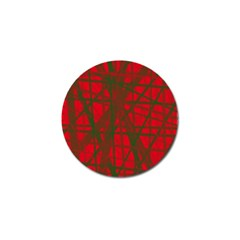 Red pattern Golf Ball Marker (10 pack)