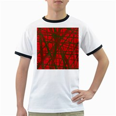 Red pattern Ringer T-Shirts