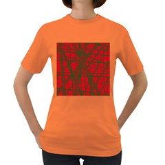 Red pattern Women s Dark T-Shirt
