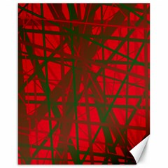 Red pattern Canvas 16  x 20